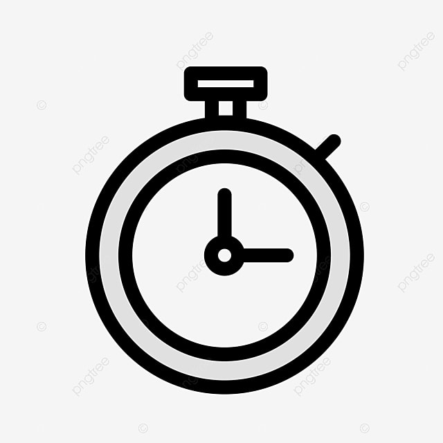 Flat Stopwatch PNG Download, Stopwatch, Timer, Alarm Clock