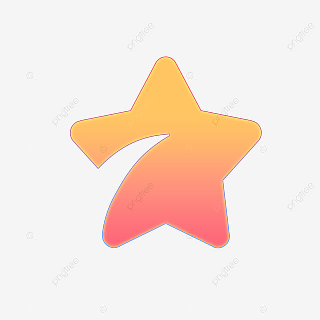 Flattened Five-pointed Star PNG Download, Five Stars, Five