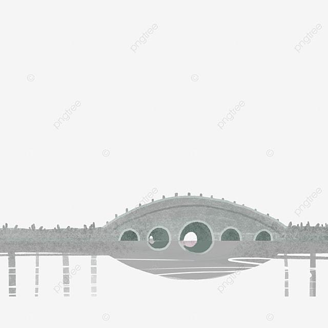 Grey Round Bridge Free Map, Grey, Bridge, Artificial Bridge PNG