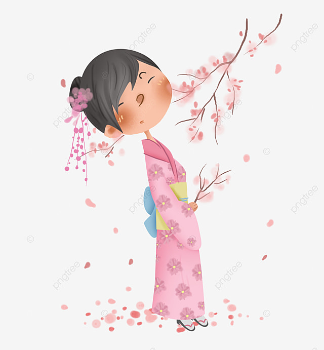 c6f24b045 Japón Kimono Japonés Niña Japonesa, Japón, Rosa, Floración De Cerezo ...