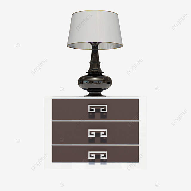 Modern Minimalist Bedside Table And Table Lamp Modern Minimalist Bedside Table Png Transparent Clipart Image And Psd File For Free Download