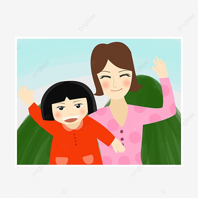 Gambar Hari Ibu Ibu Dan Anak Perempuan Photo Photo Ilustrasi Gambar Gambar Yang Dilukis Dengan Tangan Hari Ibu Gambar Gambar Ibu Dan Anak Perempuan Tersenyum Perempuan Png Dan Psd Untuk Muat Turun