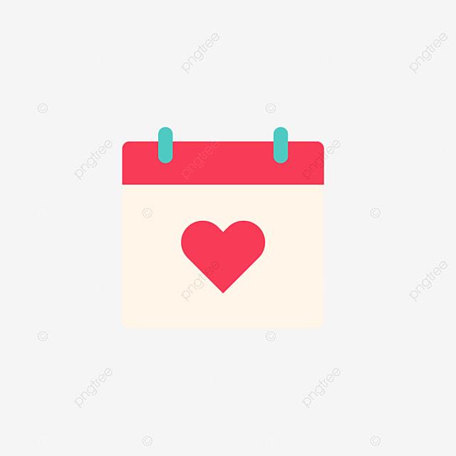 Calendario Rosa Png.Rosa Plana San Valentin Calendario Icono Icono San Rosa