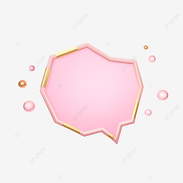 Pink Gold Three Dimensional E Commerce Decoration, C4d