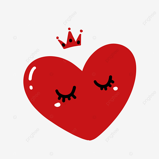 Red Crown Love Png Free Material, Love, Heart, Cartoon Heart PNG and PSD