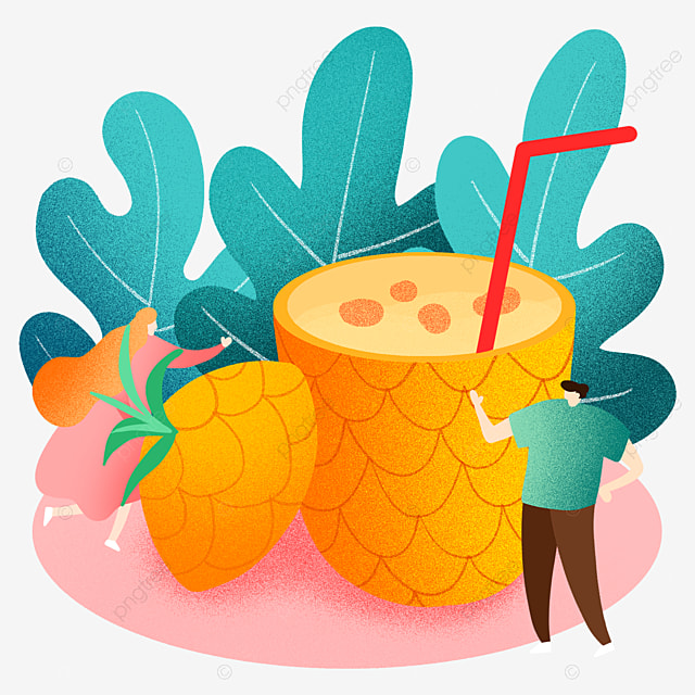 Summer tropical. Pineapple illustration fruit png