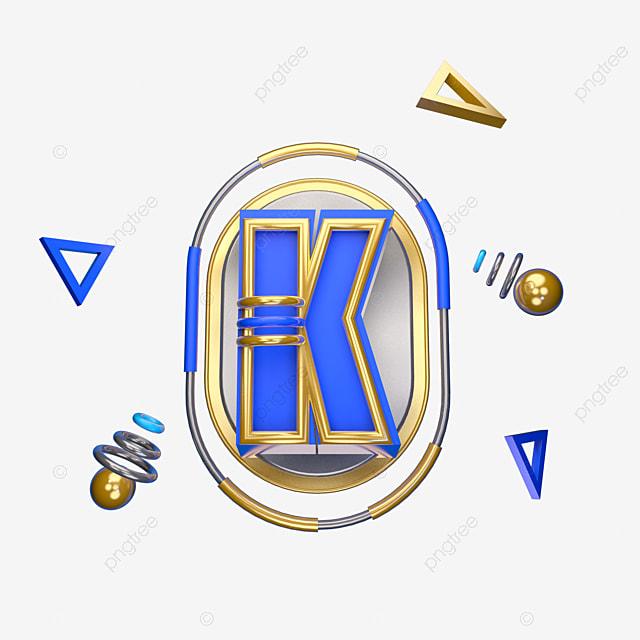 Letras Azules C4d Decoración Tridimensional Carta Creativo