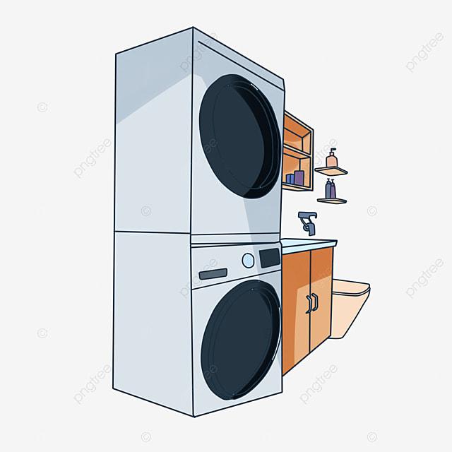 Lavadora Con Lavabo.Bano Instalaciones Equipamiento Lavadora Lavabo