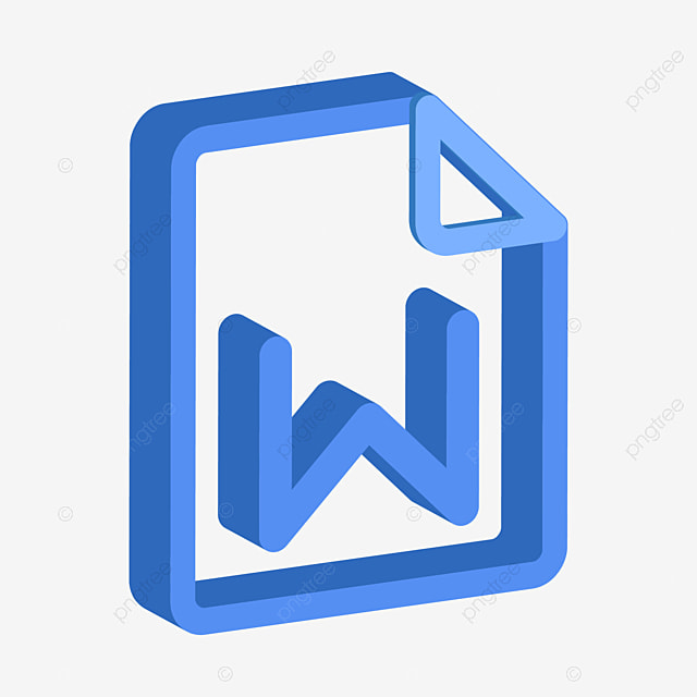 Word Blue Minimalistic 2 5d File Resume Small Icon Word Blue