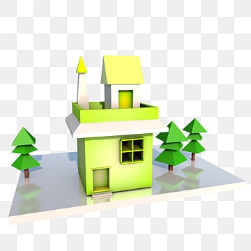 c4d house city house, City House, City House Template, Download City House PNG and PSD