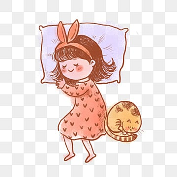 Girl Is Sleeping Free Cartoon Girl Anime Character Cartoon Png Transparent Clipart Image And Psd File For Free Download