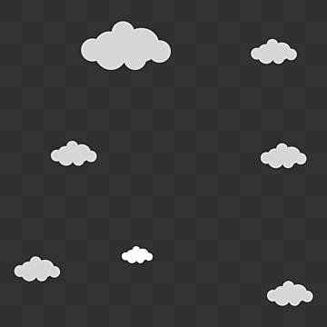 Translucent Square White Cloud Icon Translucent Square Icon