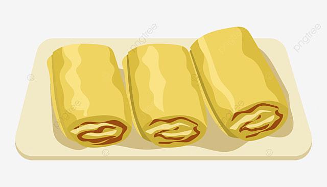 Gambar Gulung Telur Roll Telur Gulung Telur Yang Lazat Ilustrasi
