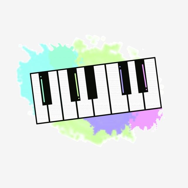 Beautiful Musical Instrument Piano Illustration, Color Piano, Music