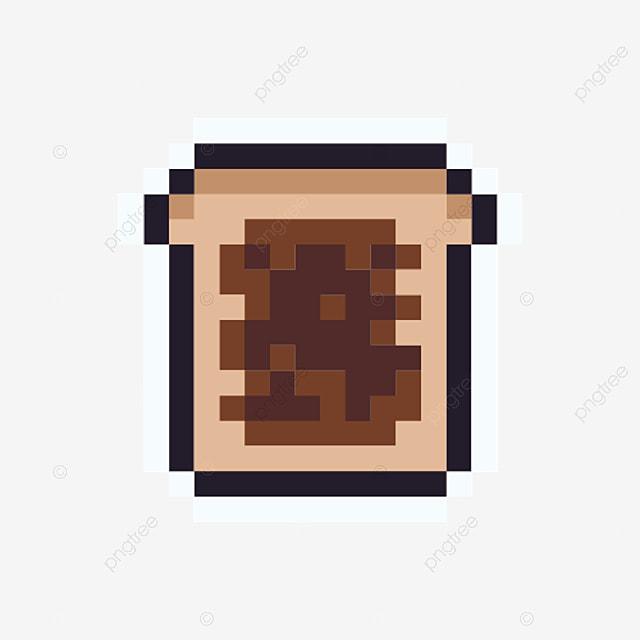 Pain Pixel Icon Dessin Animé Simple Style Arcade Nourriture