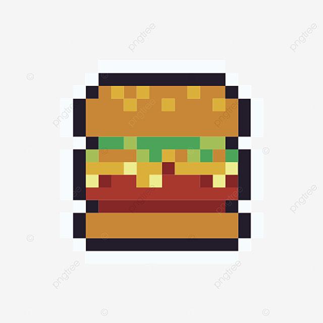 Icône De Pixel De Hambourg Dessin Animé Simple Style Arcade