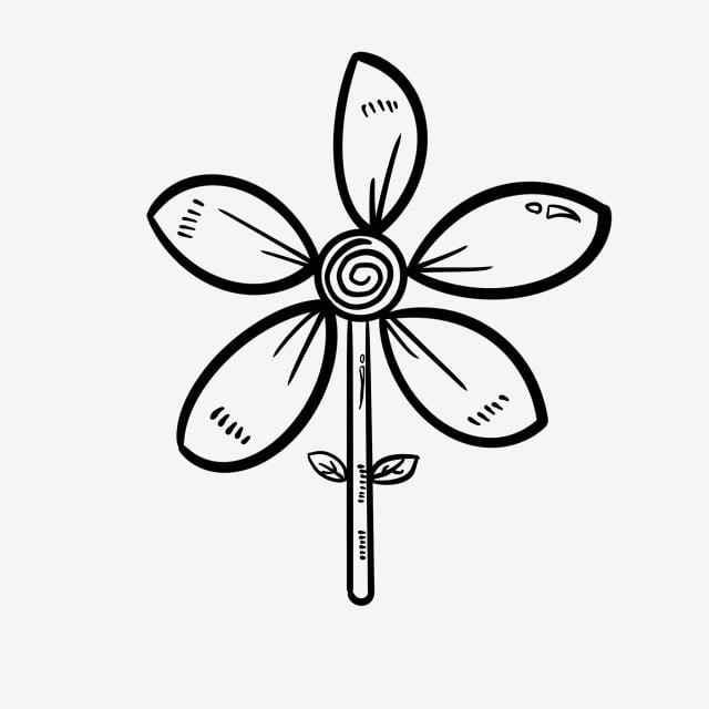 Stick Figure Fleur Illustration De Fleur En Ligne Dessin Au