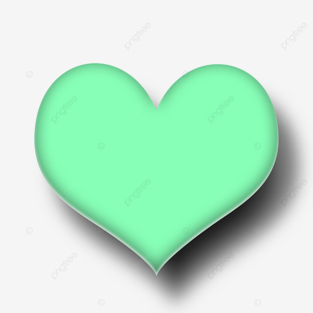 Green Heart Shaped Cartoon Bubble Material Download