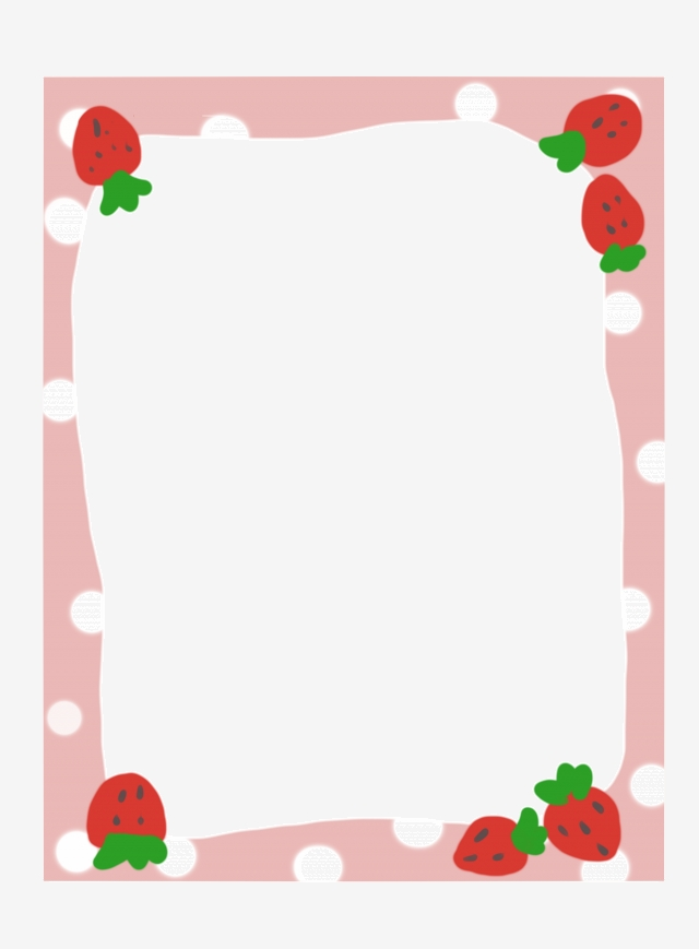 Strawberry Border Png, Vector, PSD, and Clipart With ...