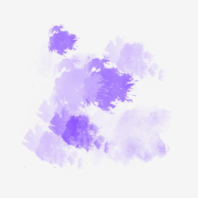 Purple Brush Stroke Watercolor Illustration, Stroke Handwriting, Purple Watercolor, Smudge PNG