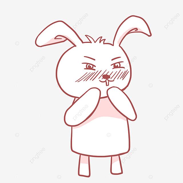 Gambar Kelinci Lucu Kartun Pemalu Gambar Kartun Imut Kelinci Kelinci Berperilaku Baik Kelinci Png Transparan Gambar Clipart Dan File Psd Untuk Unduh Gratis