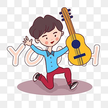 boy likes music guitar elements, May Fourth, Youth Day, Music PNG and PSD
