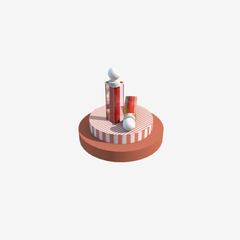C4d Cosmetic Lipstick Small Scene Physical Product Map