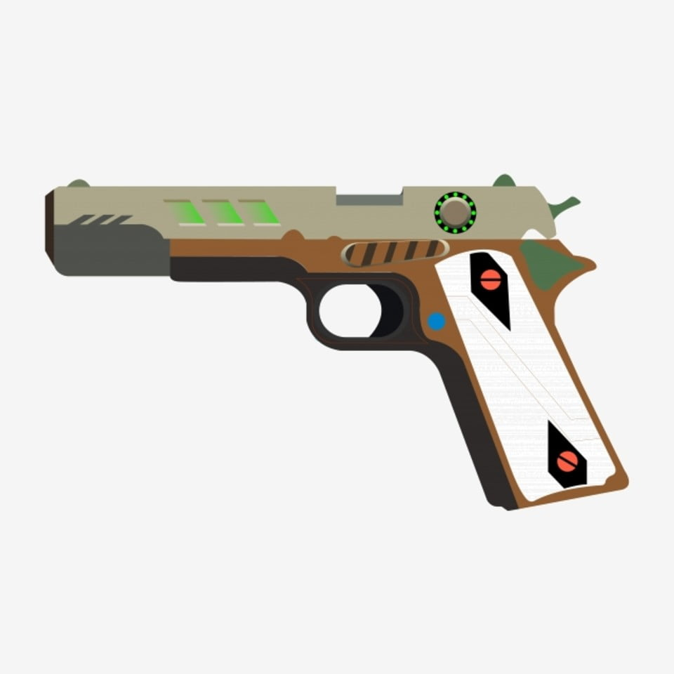 cartoon delicate pistol cartoon exquisite pistol beautiful pistol png and vector with transparent background for free download pngtree