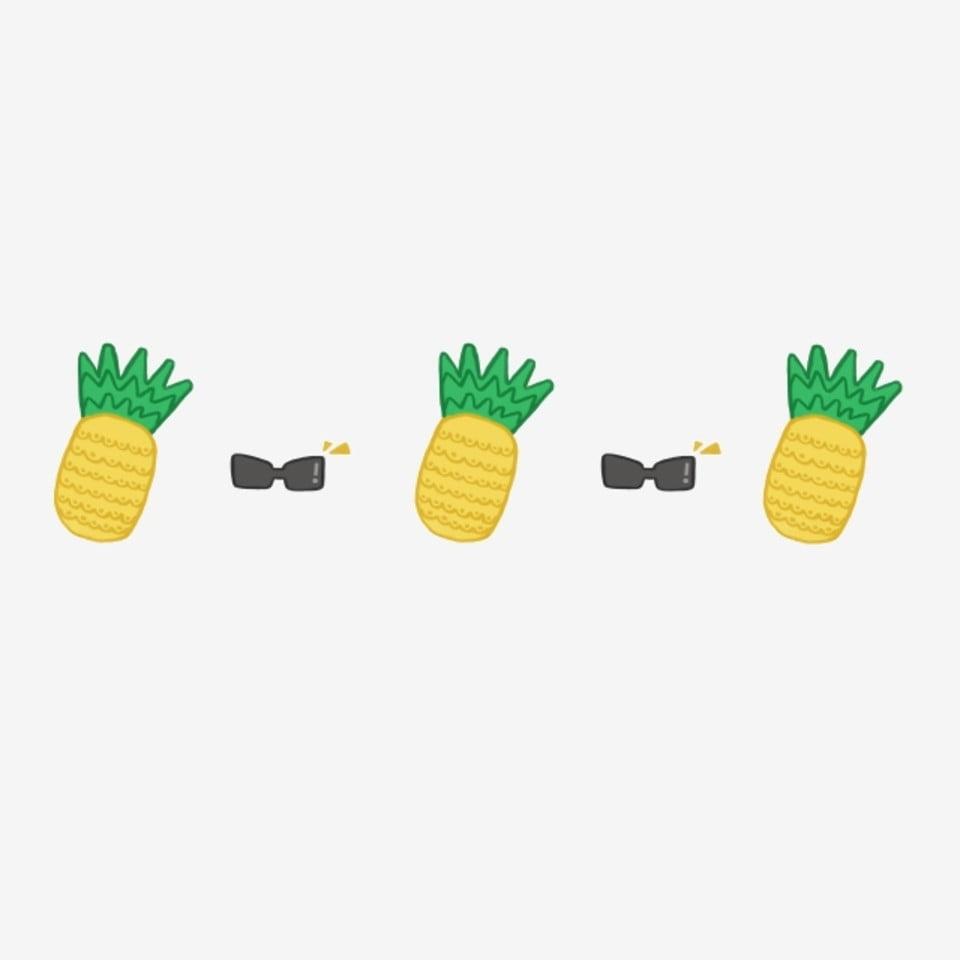 Ananas Jaune Ligne De Démarcation D Ananas Illustration De