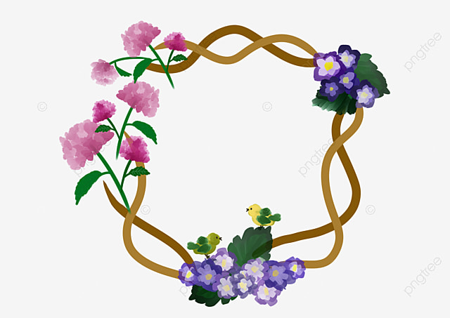 Purple Rattan Flower Vine Illustration, Purple Flowers, Cartoon  Illustration, Flower Vine Illustration PNG Transparent Clipart Image and  PSD File for Free Download