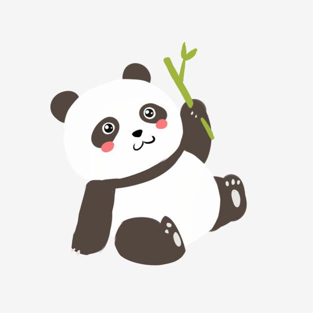 Animal De Dessin Animé Trésor National Panda Mignon Feuille