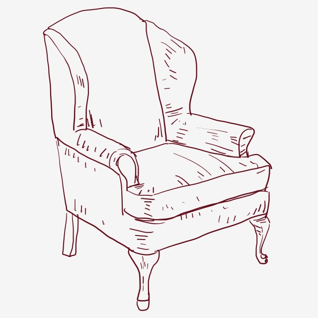 Line Drawing Sofa Chair Png Vector Psd And Clipart With