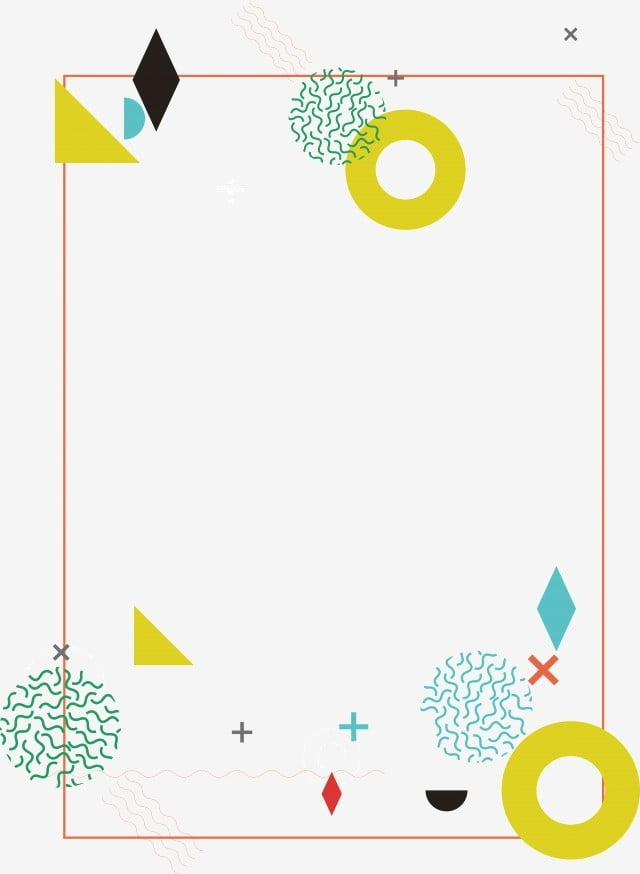 Light Color Geometric Border Texture Png Free Material
