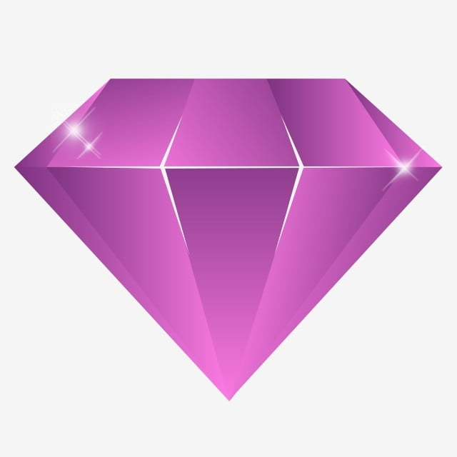 Purple Glowing Gemstone Diamond, Inverted Triangle Gemstone