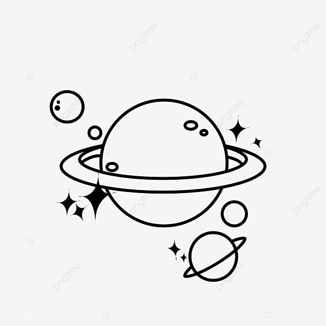 Planet simple. Stick figure black and