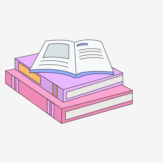 Pile De Livres Livre Ouvert Illustration Ecole D