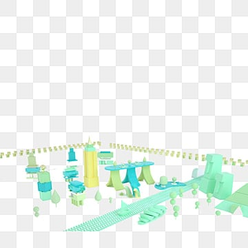 Free Download | Beautiful Cool 3d City Models PNG Images