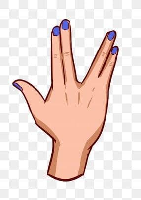 entre dedos separados