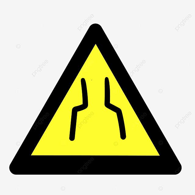 edge yellow caution sign - 640×640