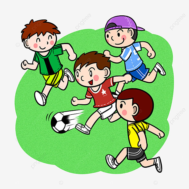 Cartoon Children Playing Football Png Transparent Bottom Cartoon Children Boy Png Transparent Clipart Image And Psd File For Free Download