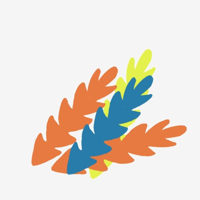 Feuilles De Dessin Animé Feuilles Colorées Plantes De Dessin