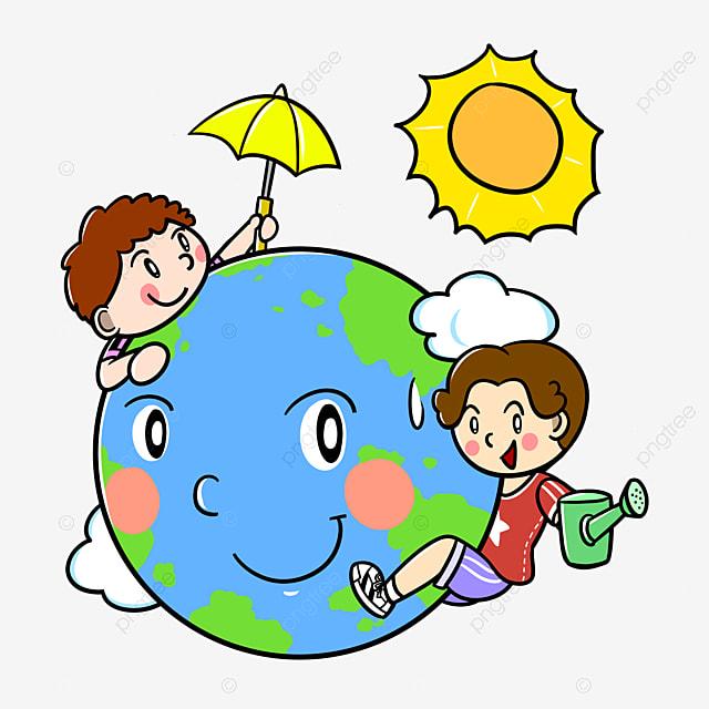 Jour De La Planète Terre Dessin Animé Jour De La Terre