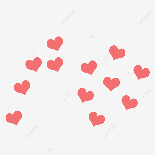 Coeurs Rouges Amour Decorations De Vacances Illustrations De