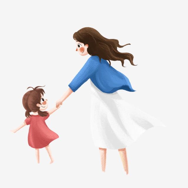 Download 99 Gambar Animasi Ibu Dan Anak Perempuan Keren Gratis