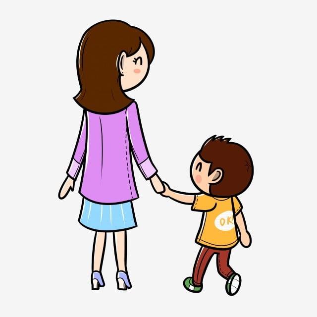 Gambar Kartun Hari Ibu Ibu Dan Anak Ibu Dan Anak Kartun Kartun Ibu Bapa Kanak Kanak Kartun Tangan Besar Png Dan Psd Untuk Muat Turun Percuma