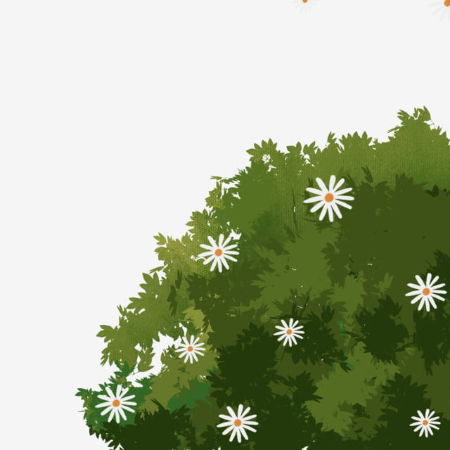 Cartoon Spring Bush Png Download, Bushes, Green Bushes