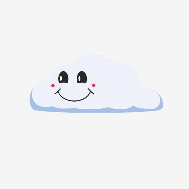 Cloud Smiley Face Decoration Simple Smiley Illustration Decoration