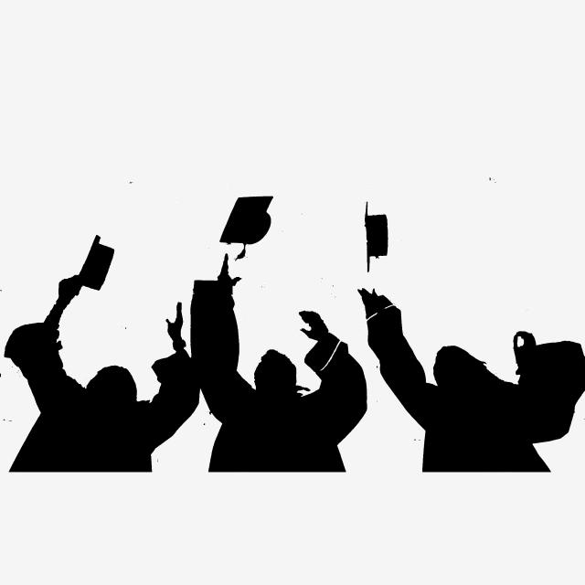 Graduation Photo Silhouette Png Illustration, Graduate
