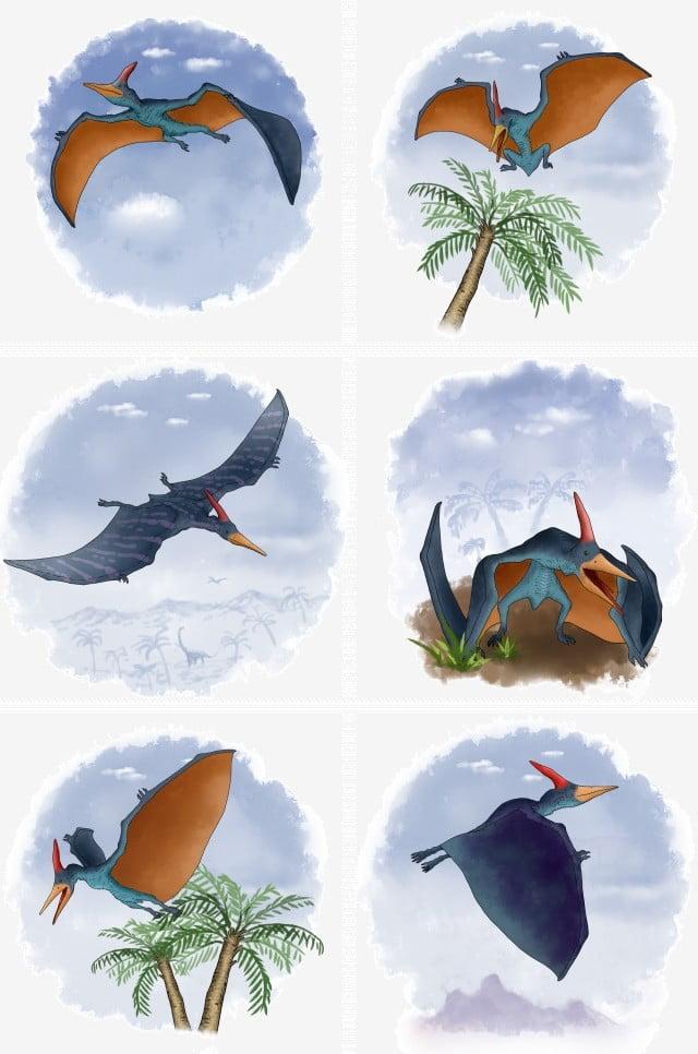 Dinosaurs Pterosaurs Pterodactyls Blue Pterosaurs Dinosaurs ...