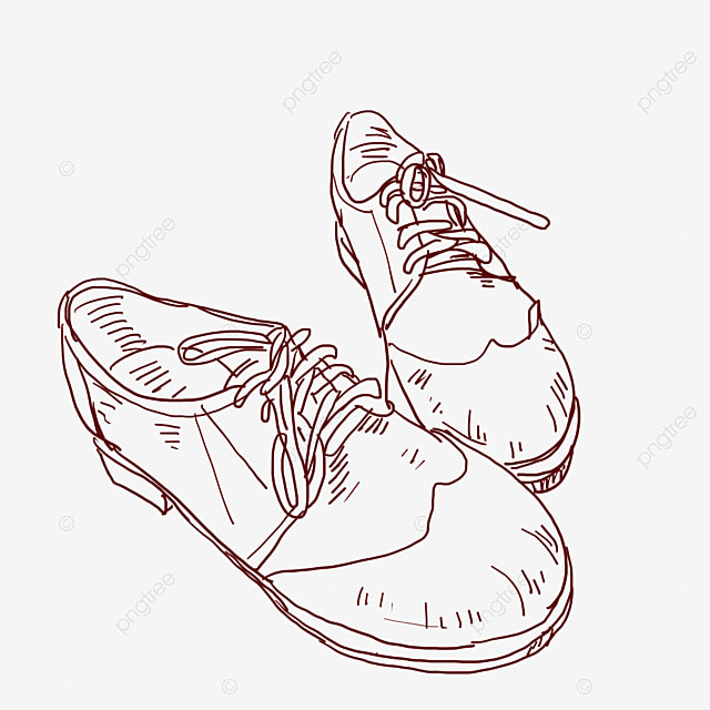 Line Drawing Fashion Tether Leather Shoes Line Drawing Shoes Tether Shoes Shoe Decoration Png Transparent Clipart Image And Psd File For Free Download